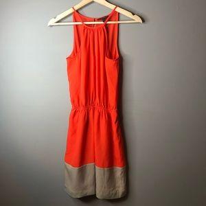 Express orange cream size xs dress summer